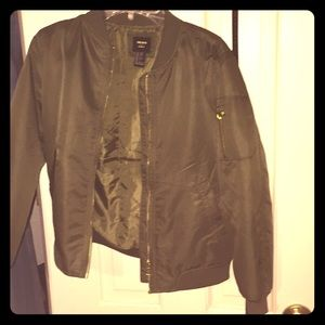 11/12 girls jacket, army green. Forever 21